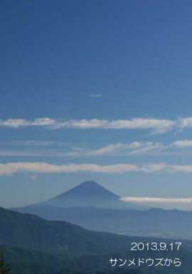 この角度から見る富士山は、左の稜線がキレイですね♪