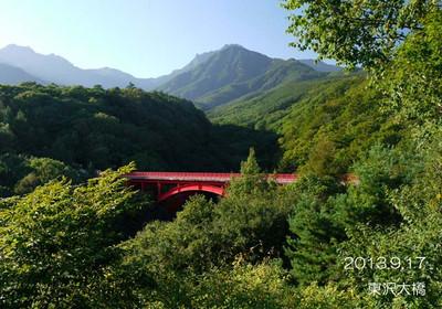 新緑の頃♪紅葉の頃♪雪景色の頃♪いつきてもきれいな橋です♪