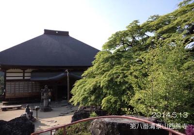 何度も訪れている西善寺ですが、この場所から写真を撮ったのは初めてかも♪